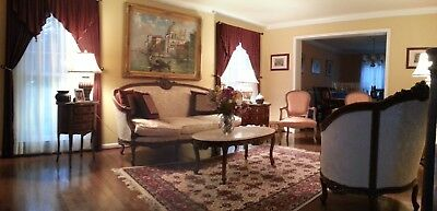 Complete Living Room Rococo Deluxe Furniture Set in Excellent Condition