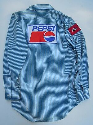 Vintage Pepsi Shirt With Dr Pepper Patch & Pepsi Patches - Riverside