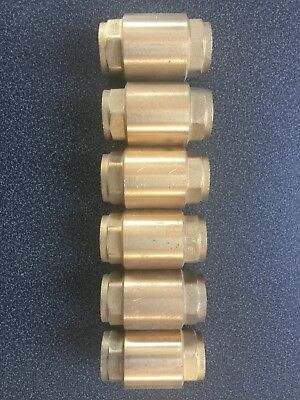 "1/2"" Brass Sprung Loaded Check Valve, 💦 Heating Or Air, Dn15 - Pn25 Freepost"
