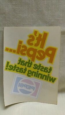 Vintage Pepsi Window/door Cling Decal Sticker Taste That Winning Taste