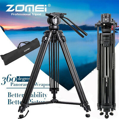 ZOMEI Professional DV Camcorder Tripod Camera Tripod Fluid Head VT666 Heavy Duty