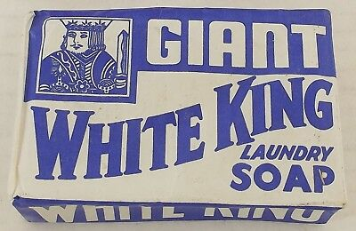 Very Rare Vintage White King Laundry  Soap Los Angeles Soap Co. 2 Available