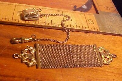 Antique W.E.H. CO Victorian Art Deco Gold Filled Watch Fob Chain  Parts