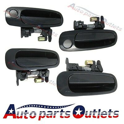 New 4pc Outside Door Handle  Front Rear Left Right For 98-02  toyota corolla