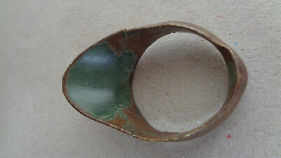 Ancient Roman Bronze Archer's Ring, Thumb Ring for Archery