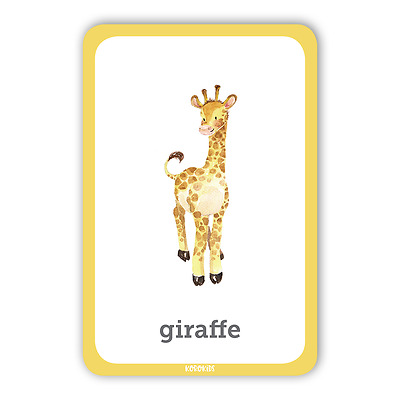 NEW ANIMALS Flash Cards ages 6 months-UP Early Learning