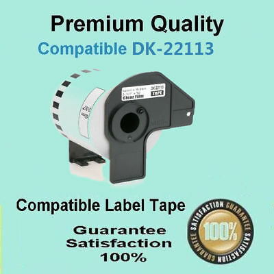 1 x DK-22113 Clear Continuous Film Roll Compatible for Brother QL-550 QL-570