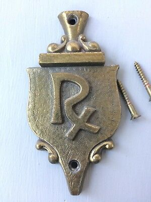 Vintage Brass Door Knocker with Rx