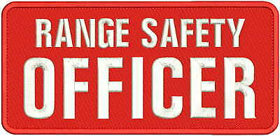 RANGE SAFETY OFFICER EMB PATCH 5X11 Sew on red/white
