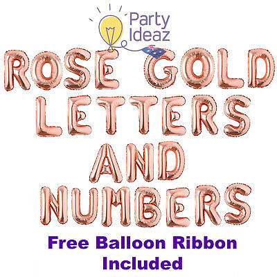 Rose Gold Balloons / Foil Letters Numbers - Engagement Party Decorations,Wedding