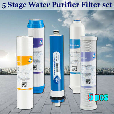 5x Universal Reverse Osmosis 5-Stage Filter RO/DI for APEC/ispring/Global Water