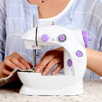 Electric Twin Speed Mini Stitch Handheld Sewing Machine Mains Battery Tool