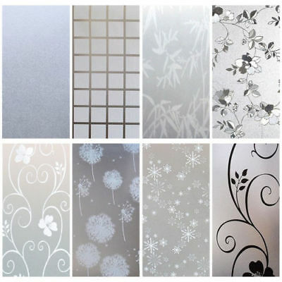 200 x 90CM Room Bathroom Home Window Door Privacy Bath Film Sticker PVC Frosted