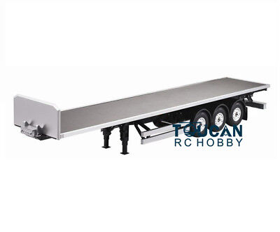 US Stock Hercules 1/14 Scale RC 3 Axles Flatbed Semi Trailer Truck Plastic Parts