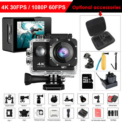 4K WIFI Outdoor Action Camera Video Sport DV Ultra HD Waterproof Cam Camcorder