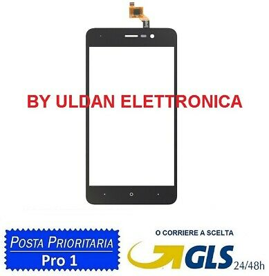 Touch Screen Vetro Wiko Lenny 4 Nero Vetrino Digitizer 5.0""