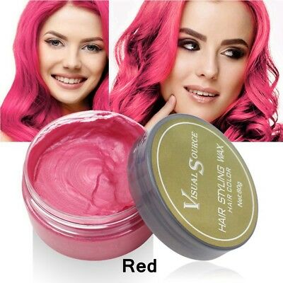 2018 Unisex DIY Hair Color Wax Mud Cream Temporary Modeling 5 Colors Available