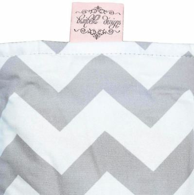 Bambella Bassinet LUX Waterproof Mattress Protector Chevron Grey 48 x 80 cm