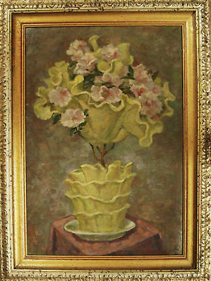 VASO ROSE BIANCHE - Dipinto Originale a Olio - White Roses Pot Painting
