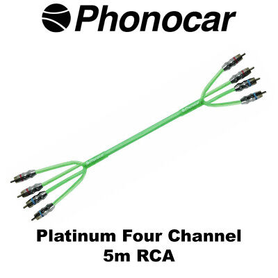 Phonocar 5m RCA Platinum Line Triple Shield High Quality 4 Channel Amp Wiring