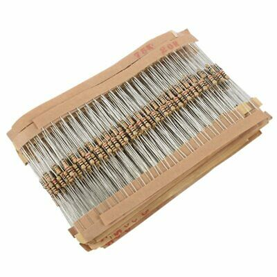 860pcs 1 ohm-1M ohm 1/4W Carbon Film Resistors Assortment Kit 43 Values V4U4