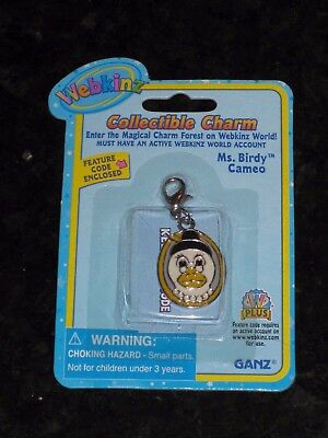 Webkinz Collectible Charm - Ms. Birdy Cameo - New with Unused Code