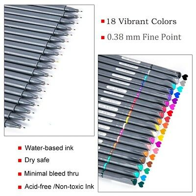 Bullet Journal Planner Pens 18 Colors Fine Line Tip Markers Art And Craft Supply