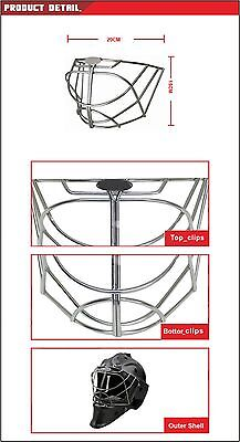 goalie stainless steel helmet cage mask  hockey cat eye mask