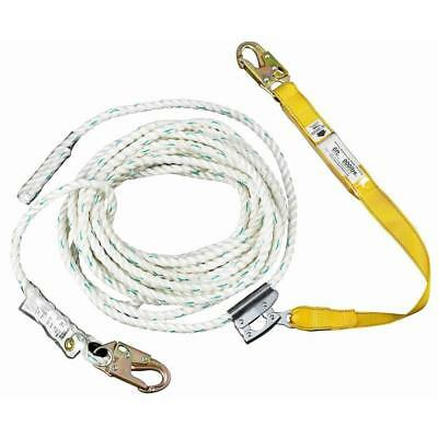 Werner UpGear Lifeline 50 ft. Rope w/ Lanyard Fall Protection Safety Grab