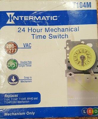 Intermatic T104M Timer Mechanism 208/277 volt DPST Water Pool Heater Free Ship