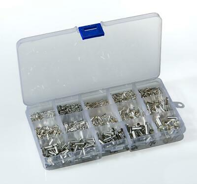 1800pcs Un-insulated Bootlace Ferrules Cord End Terminals Kit 0.5 -16mm²