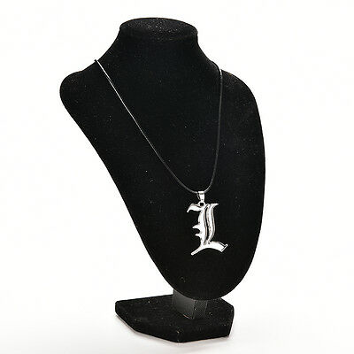 For Death Note Letter L Necklace Lawliet Kira Charm Cosplay Metal Silver XL