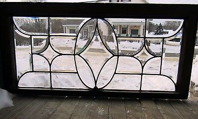 Antique Beveled Glass Window 19 By 40
