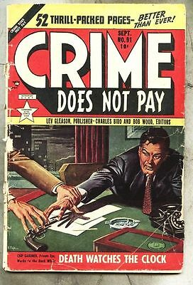 Crime Does Not Pay #91-1950 gd Charles Biro / Al McWilliams