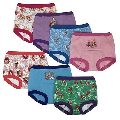 Disney Princess Girls Potty Training Pants Panties 7-pack Underwear
