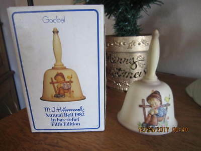 "Vintage 1982 M. I. Hummel Annual Bell  HUM 704 ""She Loves Me""  Fifth Ed. MIB"
