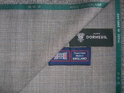 """DORMEUIL """"HARMONY"""" 100% SUPERFINE WOOL SUITING FABRIC – MADE IN ENGLAND - 3.4 m."""