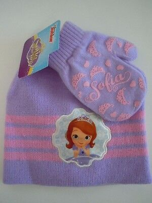 Disney Junior Sofia The First Girls' Winter Hat & Mittens Set One Size Fits Most
