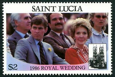 ST. LUCIA 1986 $2 SG893 mint MNH FG Royal Wedding Omnibus Issue 1st issue a1
