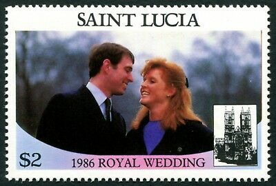 ST. LUCIA 1986 $2 SG892 mint MNH FG Royal Wedding Omnibus Issue 1st issue a1