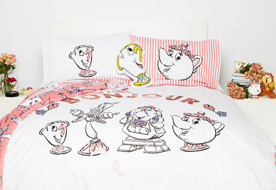 Disney Beauty and the Beast Single Double Duvet Cover Set Primark Cushion Throw