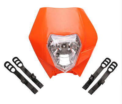 Lichtmaske Verkleidung Lampenmaske Headlight Orange Ktm Exc 125-530 Sixdays