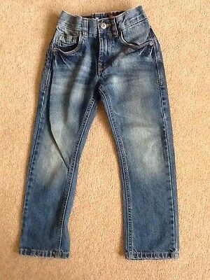 Boys blue denim jeans STRAIGHT by Next age 6 years