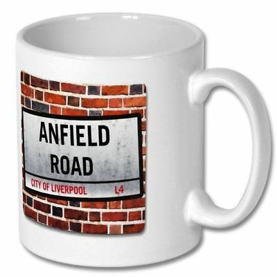 ANFIELD ROAD london street sign style MUG - gift mugs for Liverpool football fan