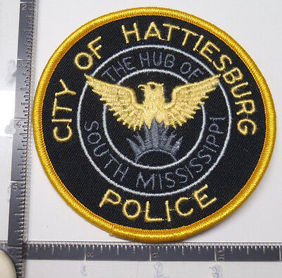 City off Hattiesburg MS Police Patch HUB of South MISSISSIPPI Eagle