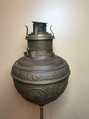 Antique Oil Lamp. The Rodchester. Patent Date October 1, 1887 To August 26, 1890