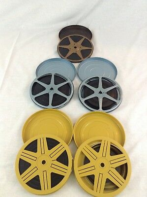 Vintage Preowned Lot Of 5 Untested Metal 8 MM Film Personal