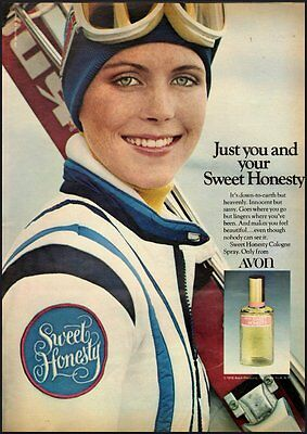 1976 Vintage ad for Avon Sweet Honesty Cologne Spray  (092812)