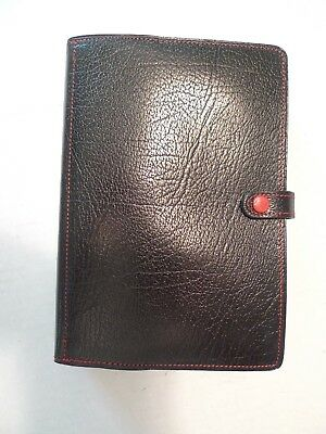 Filofax-Calf Leather Planner -Made @uk- Vintage-New Old Stock With  Many Inserts