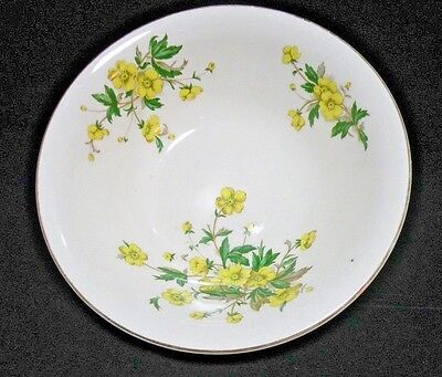 Semi Vitreous Vegetable Serving Bowl Yellow Floral Edwin Knowles China Co 4811